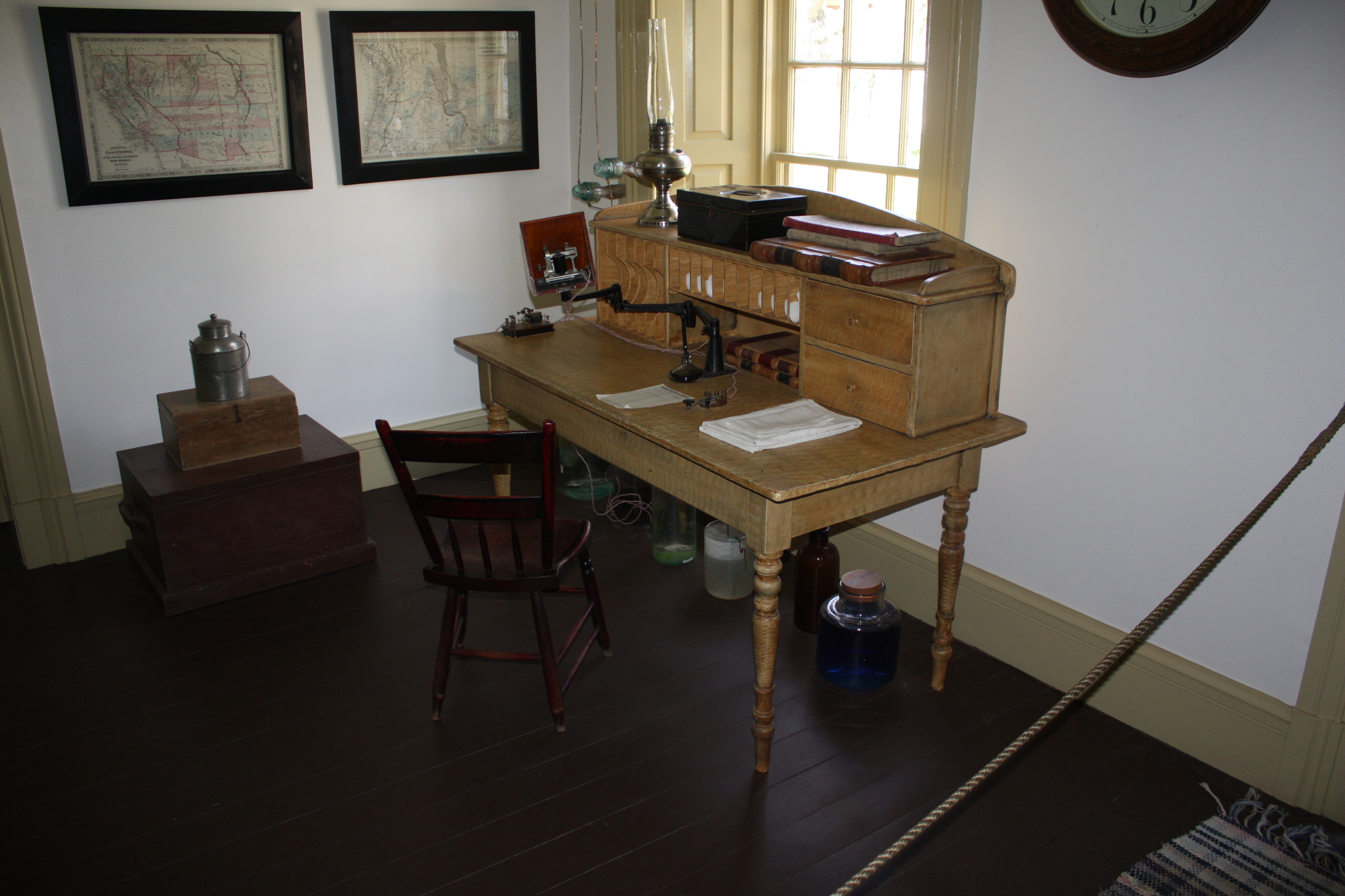 Telegraph Room at Fort Cole