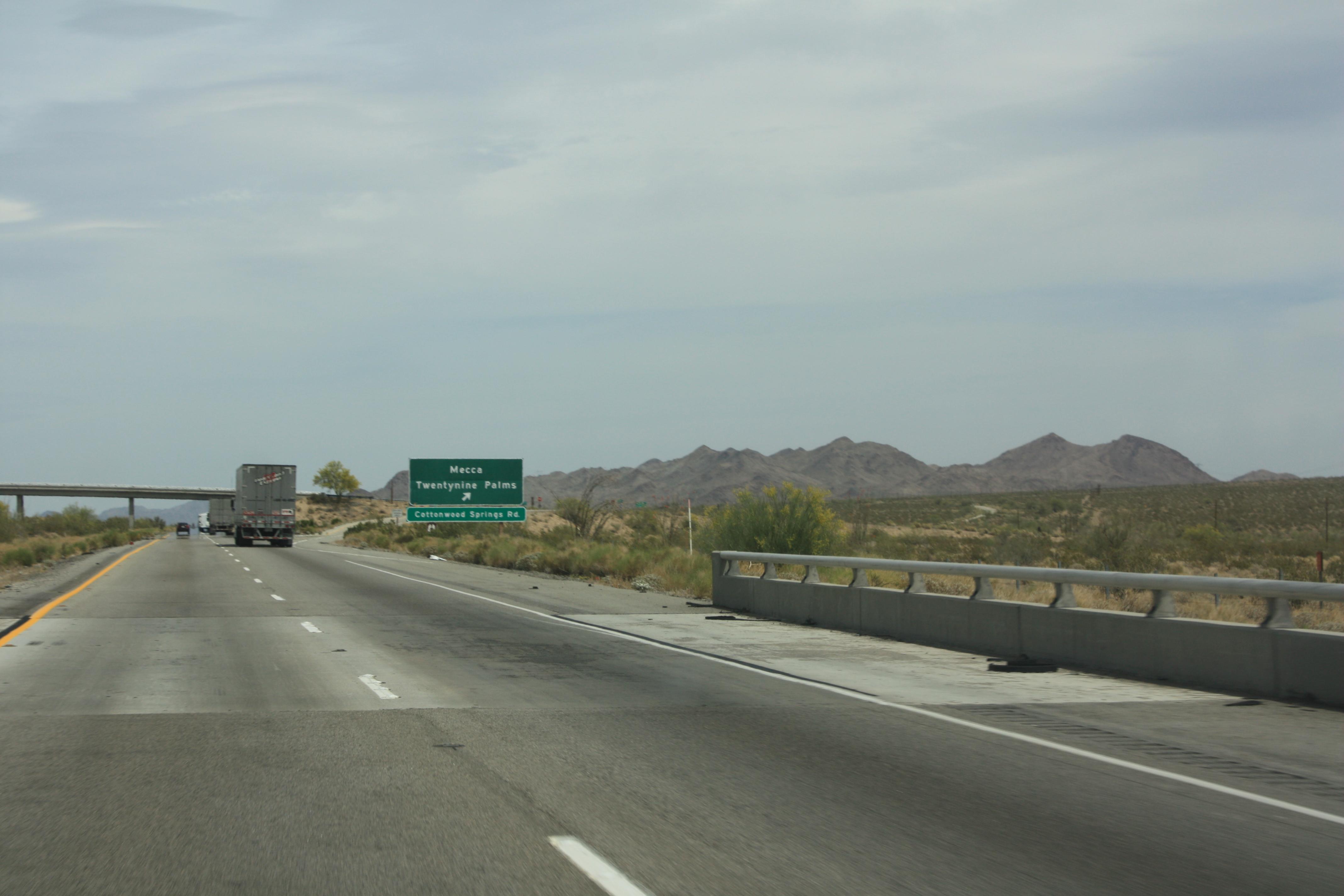 Exit to Mecca, California