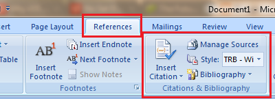 Reference in Word